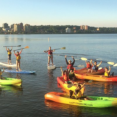 Sit on Top Kayak, Canoe, and Stand Up Paddle Boarding at Centennial Beach in Barrie, Ontario.