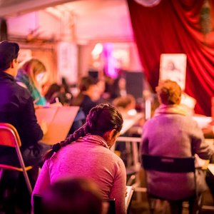 Figure drawing from life is a long tradition at Drink and Draw Berlin.