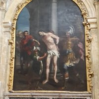 Et af de mange smukke malerier der fortæller om Jesus lidelser.