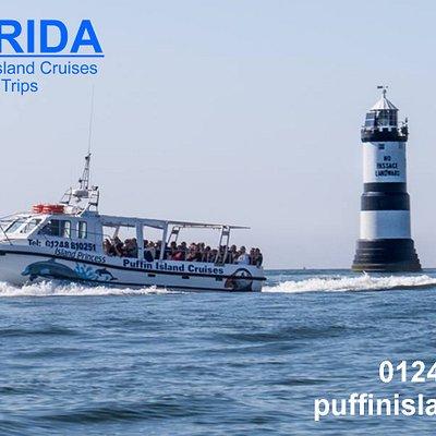 Island Princess passing Trwyn Du Lighthouse