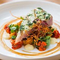 Swordfish with spicy sweet potato