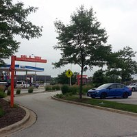 drive-thru for Dunkin' Donuts at the Lake Forest Oasis for the N/B Tri-State Tollway (I-294)