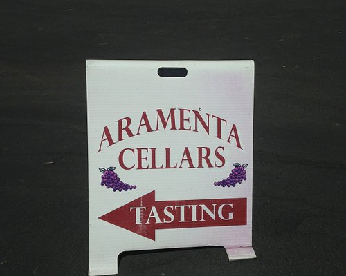 Sign at the winery