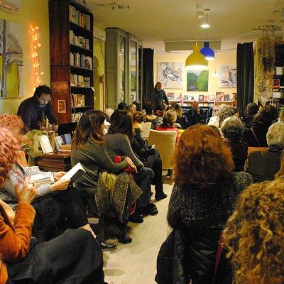 L'Altracittà durante la presentazione di un libro di Franco Arminio