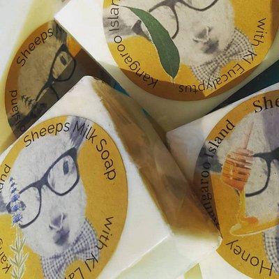Kangaroo Island Sheeps Milk Soap Bars with KI Eucalyptus, KI Lavender & KI Organic Honey