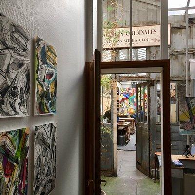 Fernisering i efteråret 2017. Galleriet er autentisk og utroligt charmerende. I forbindelse med