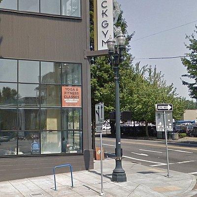 Portland Rock Gym is just across E Burnside St from Portland dentist Timber Dental East Burnside