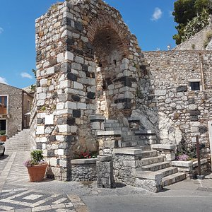 Historic gatewat and remnant of city wall