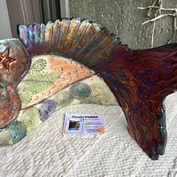 Raku pottery fish (by Diane Ferguson).