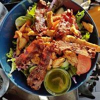 Kylling salat med bacon