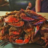 Marvelous steamed crabs