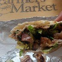 chicken fattouch sandwich