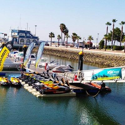 La mayor flota de motos de agua SeaDoo de la costa de Huelva
