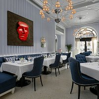 Dining haven where art meets food.