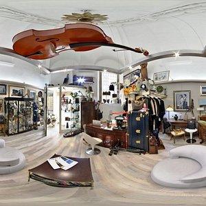 Panoramica negozio Arte Vintage Shop
