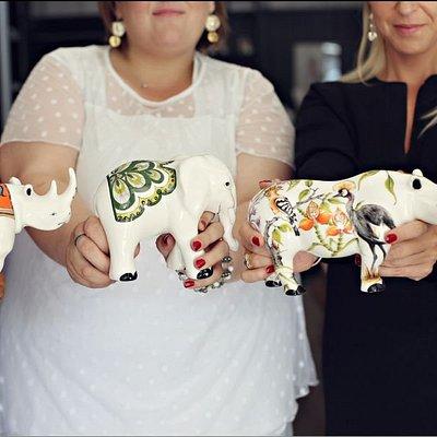Orgari by Heidi Steck Rhino & Olifant