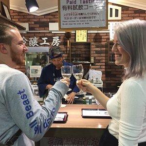 Enjoy sake at local breweries kobe