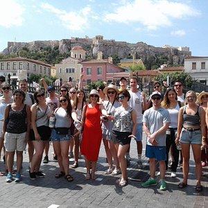 In  Monastiraki Square, the heart of Athens