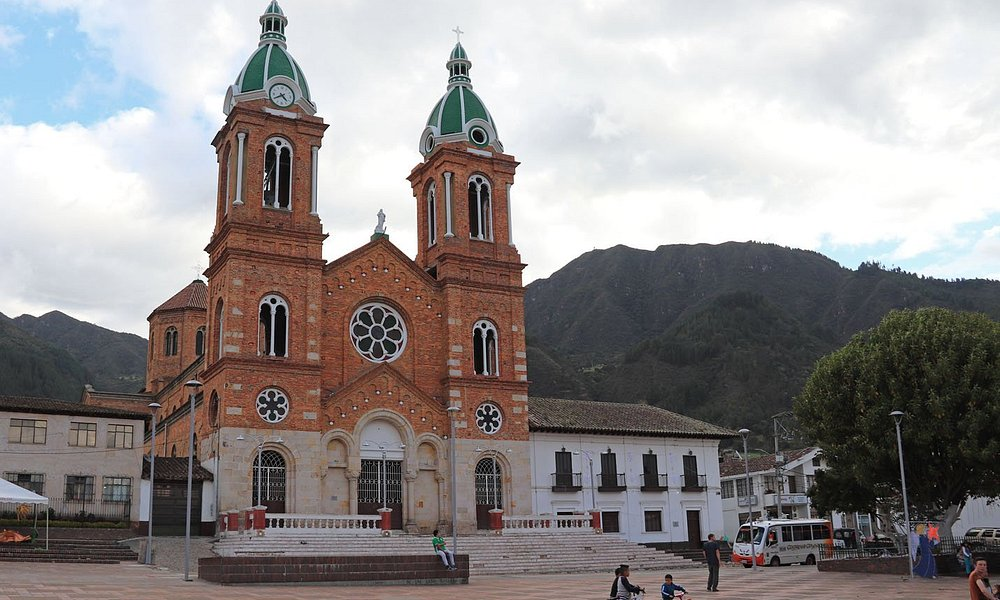Plaza in Sesquilé, Colombia, January 2018