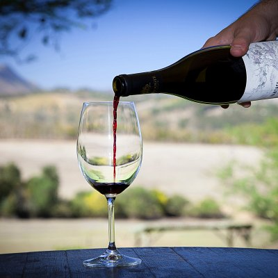 Vantage Pinotage being served.
