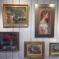 Quelques uns des tableaux exposés