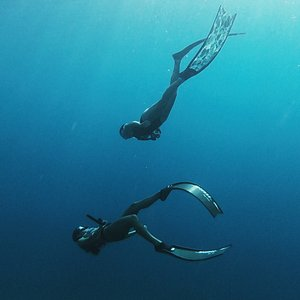 Freediving beauty with SUNTAN freediving team