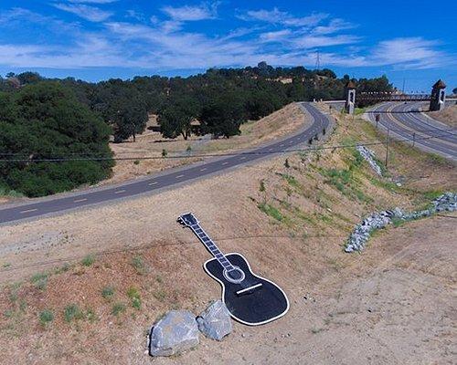 Johnny Cash bridge (upper right) and Johnny Cash Trail