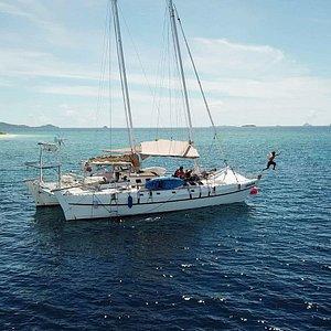 Grazia our traditionnal polynesian boat