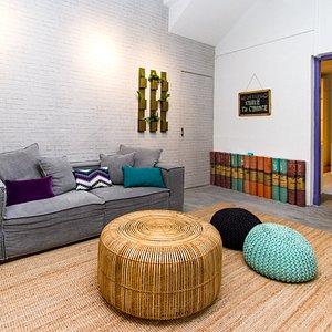 Barre studio waiting room