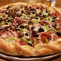 Jackpot!  Our loaded combination pizza :)