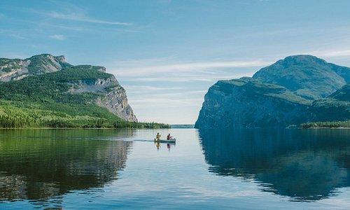 Paddling Little Doctor Lake in Nahanni National Park Reserve