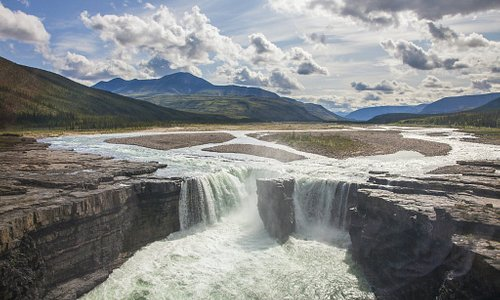 See Carcajou Falls on a flight-seeing tour of the Canol Trail