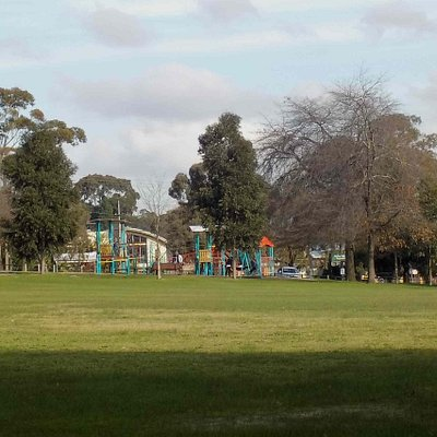 Playground across the oval
