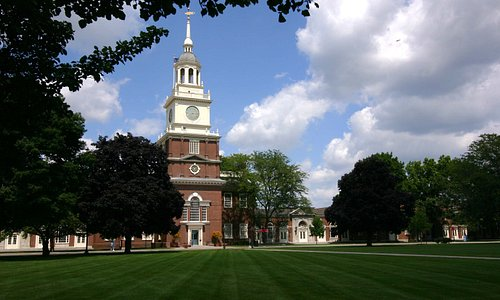 our museum's clock tower, modeled after Independence Hall