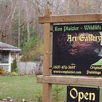 Ron Plaizier - Wildlife Artist Gallery sign