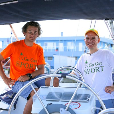 Instructors Hristo (left side) and Maxim (right side)