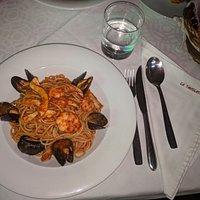 Spaghetti fruits de mer