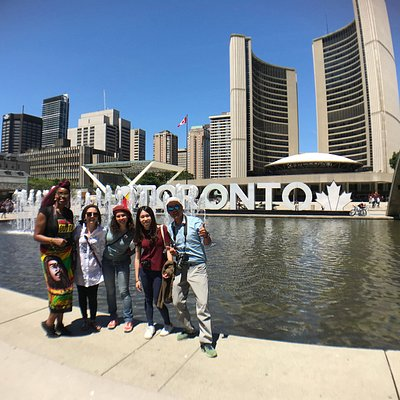 Always time for photos at the famous Toronto Sign!