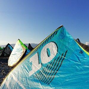 Kitesurfing time