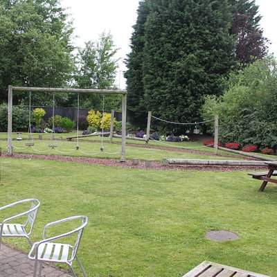 Cafe Azure has an outside play area and seating.