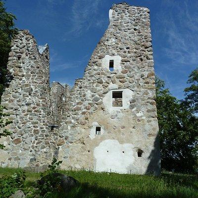 Bergkvara slottsruin i Bergunda utanför Växjö
