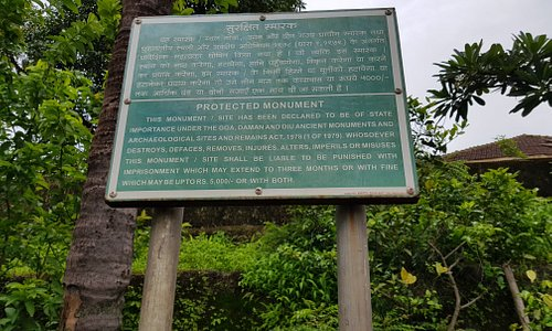 sign board to show antiquity of Pandava caves