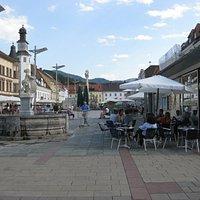 Leobner Hauptplatz vor dem Umbau der Fläche