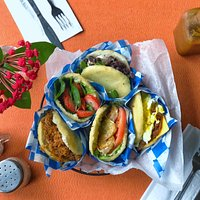 Beautiful and tasty arepas are available 8am to 3pm every day of the week!