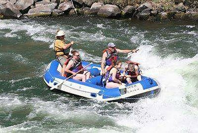 Get ready to go down this rapid!