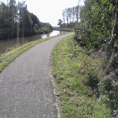 mooi rustig landschap soms te druk fietsverkeer
