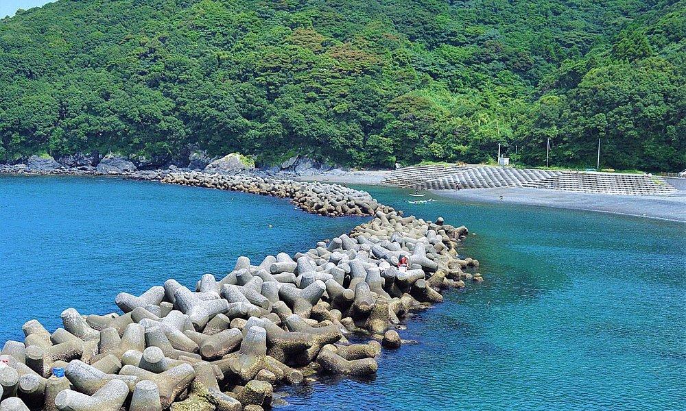 穴場の海水浴場。