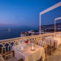 Romantic terrace at Vesuvio Roof