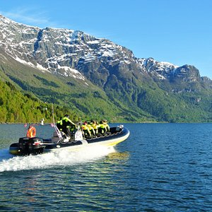 From our Fjord RIB Adventure on the Lustrafjord - the inner part of Sognefjord
