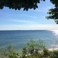 Long view from Mackinac Island